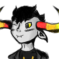 tAVROS NOOO,, STOP WINKING by discordianDenial