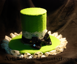 Lolita Green Mini Top-Hat by ArticGladiolus