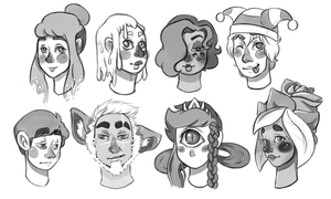 Headshot sketches by AskPimplePrincess