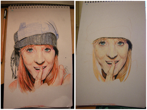Lucy Rose - Portrait WIP by CurlyWurly808