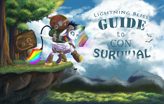 COMMISSION: Lightning Bliss' Guide to Con Survival by Elicitie