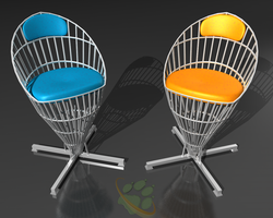 Vray: Two Chairs by MimmoO