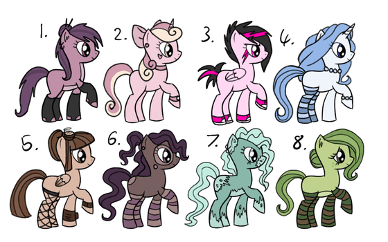 Pony Adopt Sheet by StampMakerLKJ