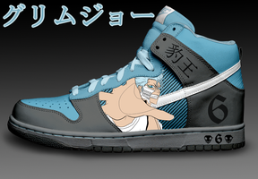 Grimmjow Custom Nike Dunks by Azrael-Haze