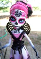 Monster High Custom Cupid Day of the Dead 2 by AdeCiroDesigns
