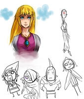 LoZ: SS: doodlessss by Pharos-Chan