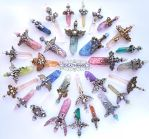 Crystal Sword Charms - Ideationox by Ideationox