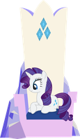 Rarity Sitting In Her Throne [No Magic Version] by ThePoneSenpai