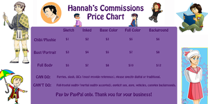 Commission Price Chart by PrincessHannah