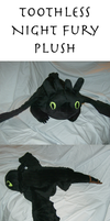 Toothless Night Fury Plush by xxtemporaryinsanity