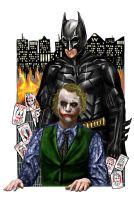 Chaos in Gotham City by staroksi