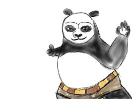 Po Kung Fu Panda Daily Sketch by Oteliex