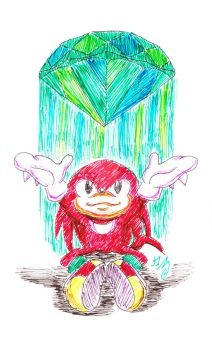Knuckles and the Great Emerald by karin-karukami
