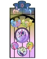 Heroes window - mlp by ProudToSketch