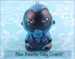 Blue Beetle Clay Charm by Comsical