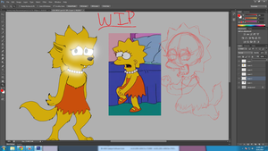 WIP werewolf Lisa (after being infected by meg) by cyngawolf