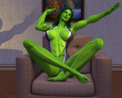 She hulk Exclusive excluded 02 by MorganCygnus