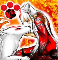 Lady N wolf Amaterasu Colored by K177y