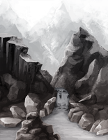 Environment Sketch by Khalo