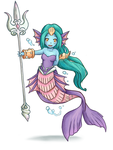 Undine Secret/Children of Mana Fanart by SarahRichford