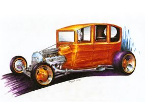 1915 Ford T Centredoor Sedan by Medvezh