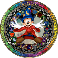 Masterpiece Fantasia (1940) Stained Glass by Maleficent84
