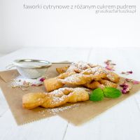 lemon fried cookies with rose sugar powder by Pokakulka