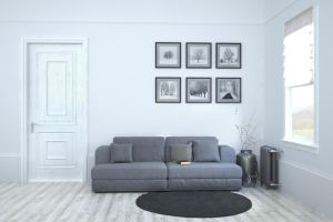 Classic Day room with Terma radiator. by W-Art3D