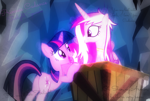 Princess Cadance and Twilight Sparkle by DixieRarity