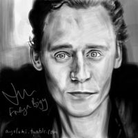 Tom Hiddleston by FreyaBigg