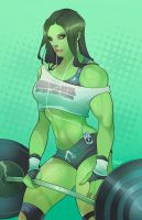 Muscles are a girls best friend by torqueartstudio by cerebus873