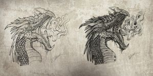 Dragon head by Unclerays