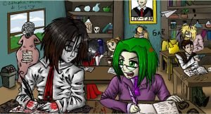 In school by Liktarka-animal