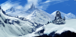 SnowyPassSpeedPaint by Chief-forrunner
