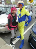 Ramona Flowers and Booster Gold by AquaNature10