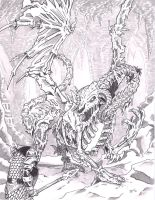 Dracolich Pencil Background by Tyrren