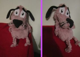 Courage the Cowardly dog Plush by Ovidiu-Hiei