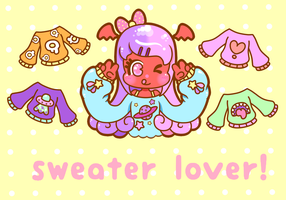 Sweater lover! by FluffSugarCafe