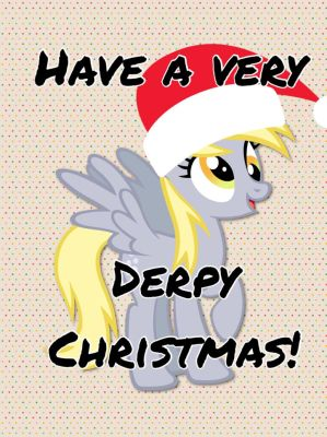 Have a very Derpy Christmas by ColdestAndOldest