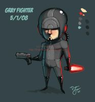 Gray Fighter by DrewGreen