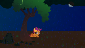 Tragic Scootaloo Wallpaper by Game-BeatX14