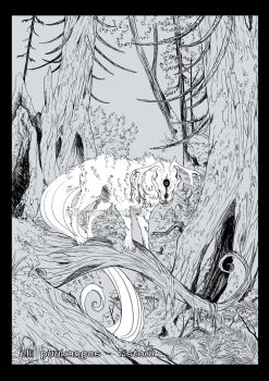Hound in the woods by ElliPuukangas