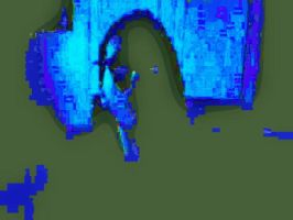 Manipulated Selfie 188: Shades of Cyan by TheSkull31