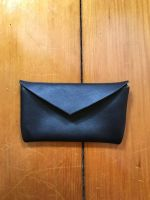 Medium Leather Envelope Credit Card Pouch by kazesamurai1000