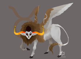 BestiaryStuck: Lammasu by clockworkViper