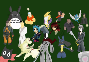 my favourite characters unfinished by Ashman44