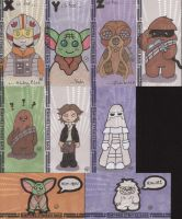 Empire Strikes Back 3D Sketch Cards -Topps by RenJPerry