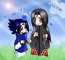 Sasuke loves the bubbles by nennisita1234