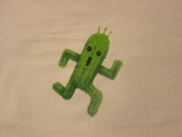 Cactuar cross stitch by mtexas4
