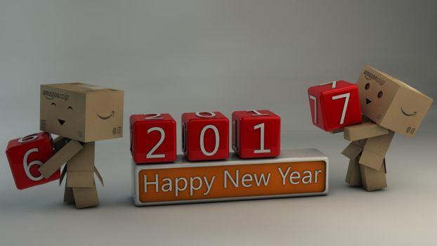 Danbo Happy New Year 2017 by Dracu-Teufel666